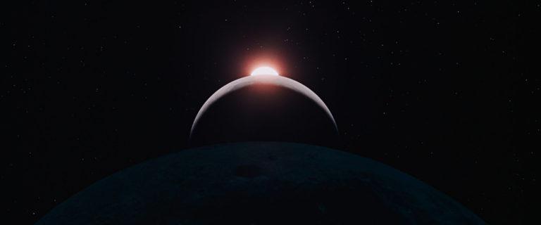 2001 a Space Odyssey eclipse scene