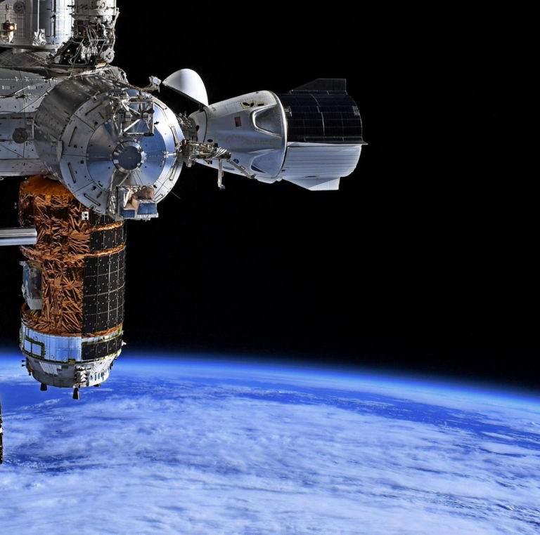 Crew Dragon docked to the ISS