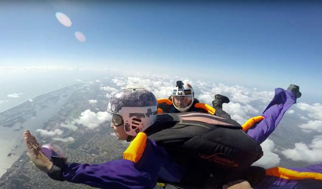 MaryLiz Bender skydiving