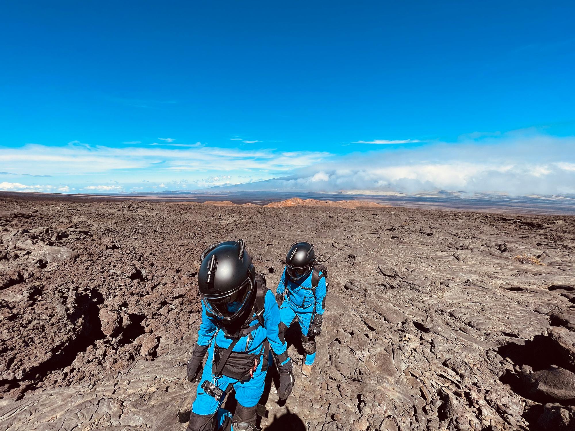 MaryLiz Bender on a lava flow walk