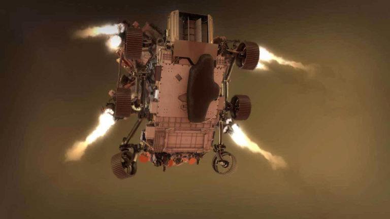 NASA Perseverance landing on Mars
