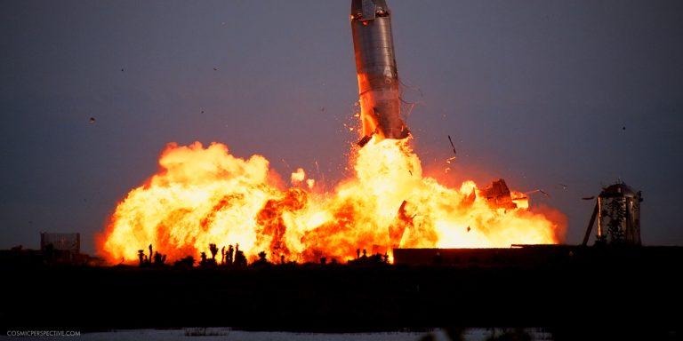SpaceX Starship SN10 landing explosion
